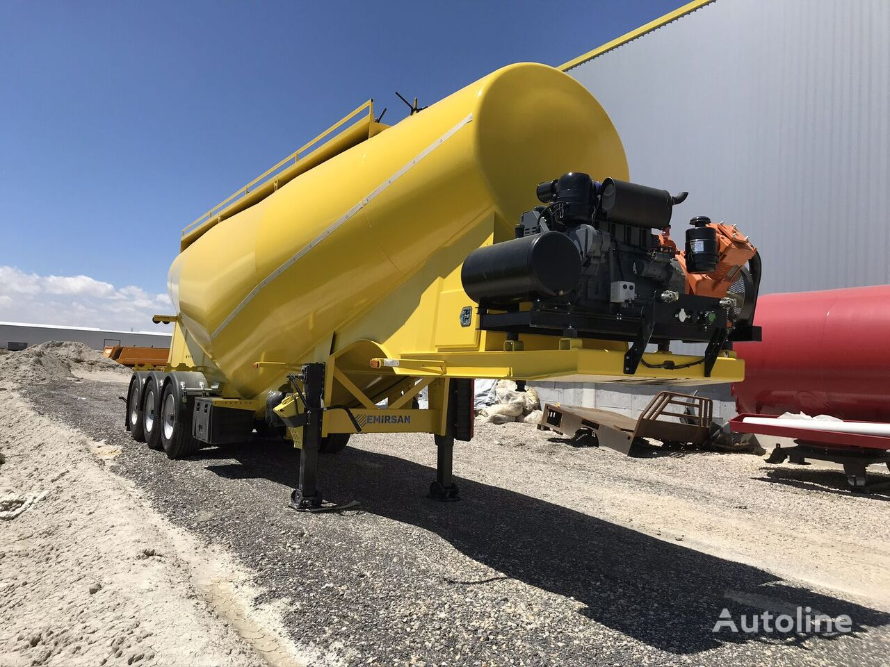 new EMIRSAN Customized Cement Tanker Direct from Factory  cement tank trailer