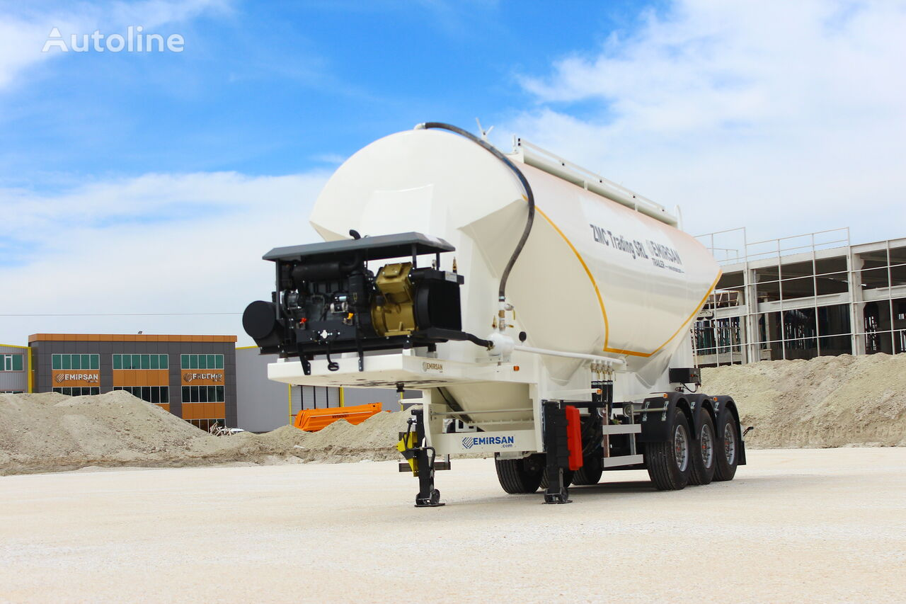 new EMIRSAN W Type Cement Tanker Trailer from Factory  cement tank trailer