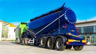 new NOVA NEW CEMENT TANKER TRAILER WITH DIESEL COMPRESSOR cement tank trailer