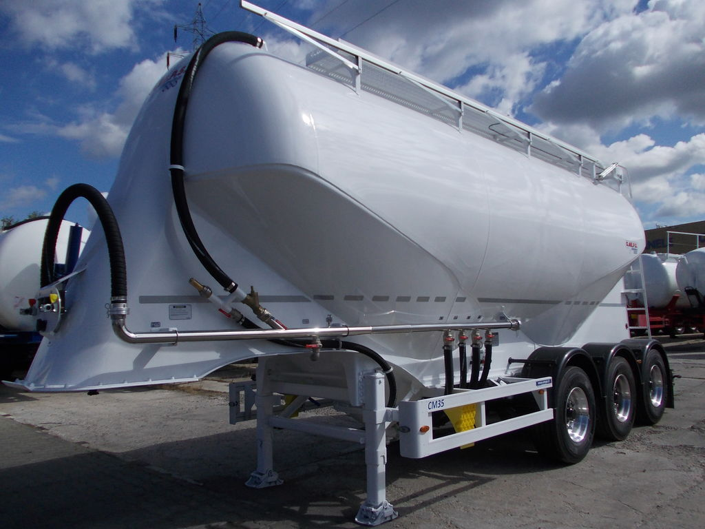 new OMEPS CM 35 NOWA !!! cement tank trailer