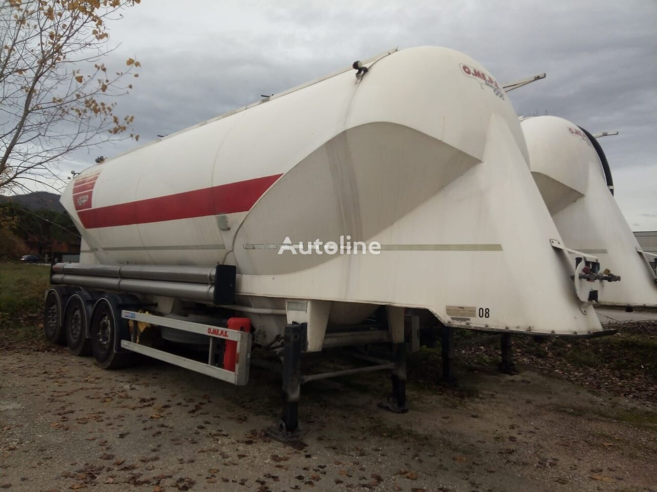 OMEPS CM 39 cement tank trailer