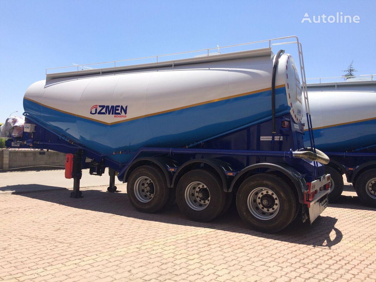 new Ozmen Damper 27-34 m3 Cement Bulk Semi Trailer - Electrical Engine cement tank trailer