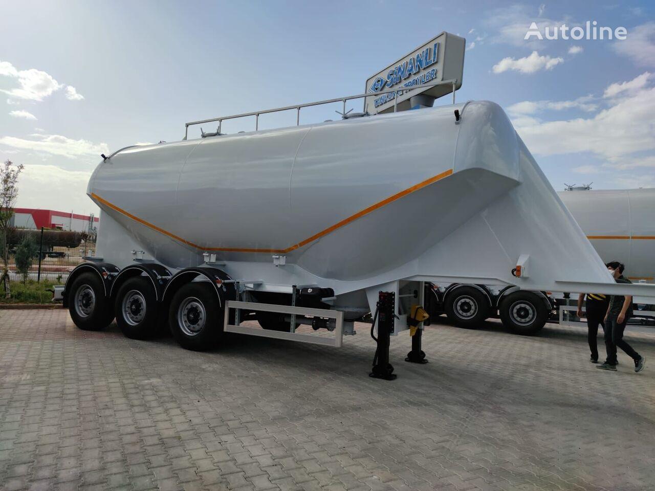 new SINAN TANKER-TREYLER In STOCK Ready Aluminiun Silo Bulk Trailer cement tank trailer