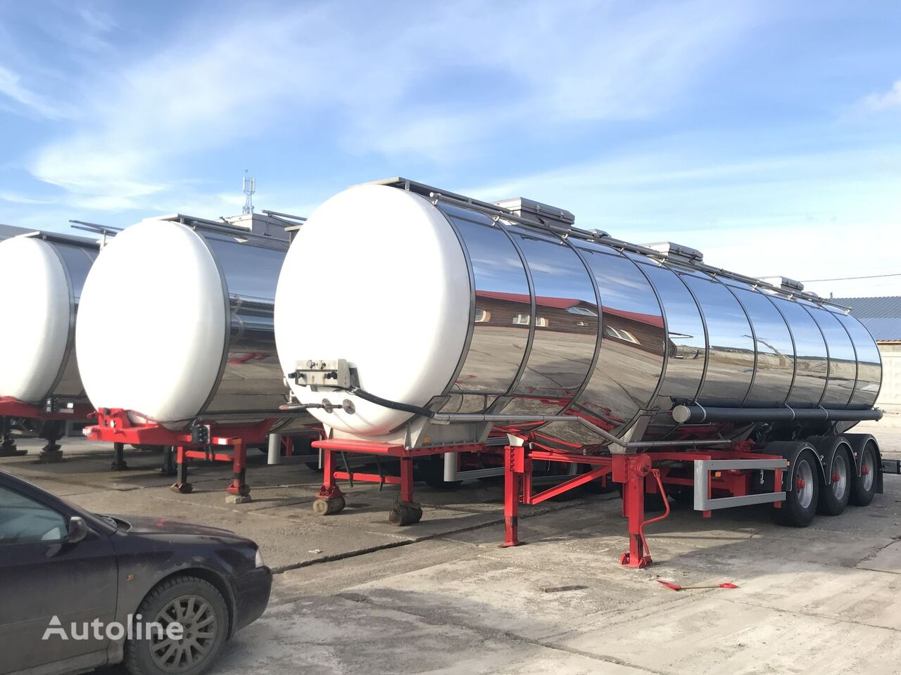 DIJKSTRA chemical tank trailer