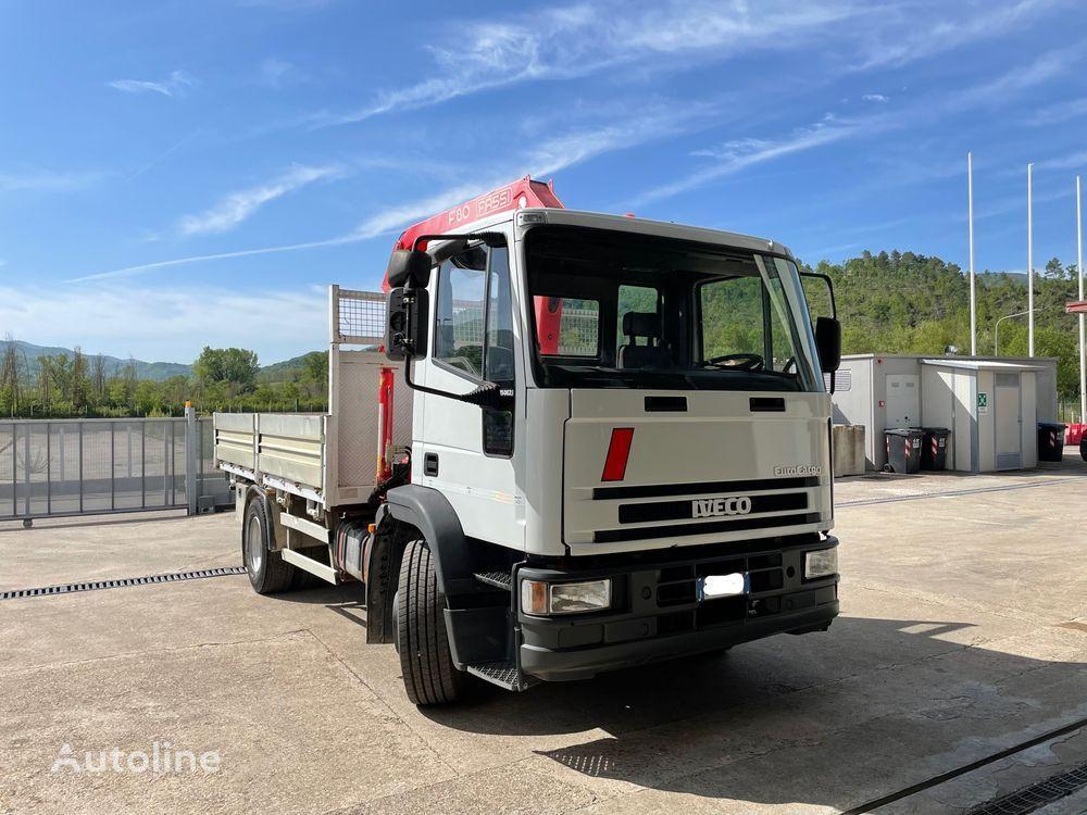 IVECO 150E23 con GRU Fassi F80A.24 box truck < 3.5t