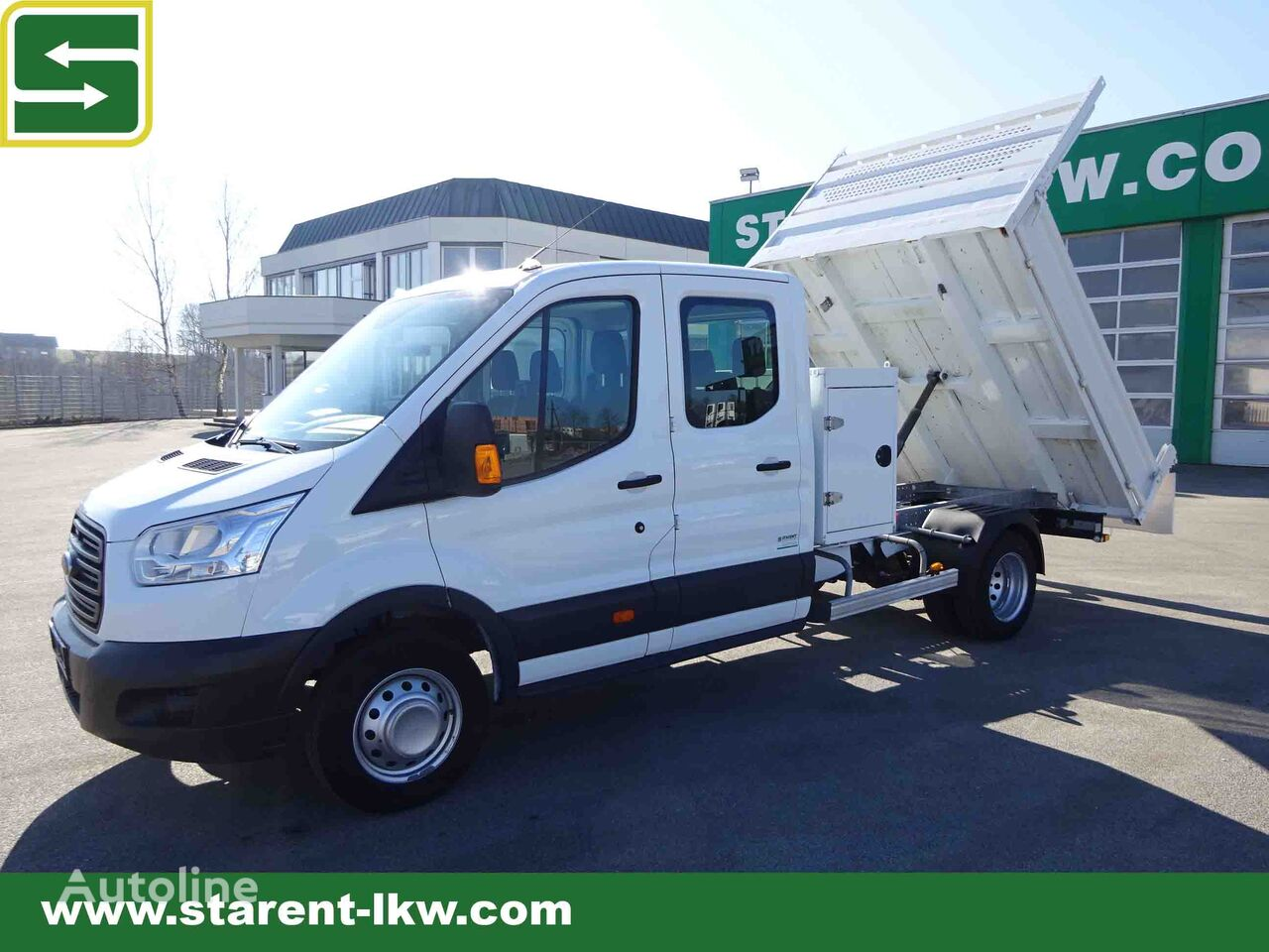 FORD Transit Kipper Doka, Klimaanlage, Tempomat, Anhängerkupplung 2,8 dump truck < 3.5t