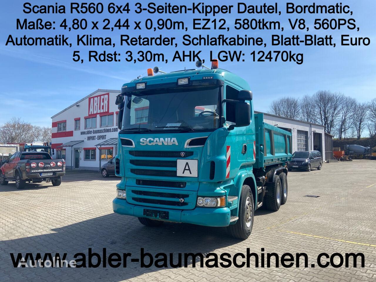 SCANIA R560  dump truck < 3.5t