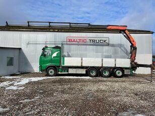 VOLVO FH500, 8x4 CRANE TRUCK flatbed truck < 3.5t