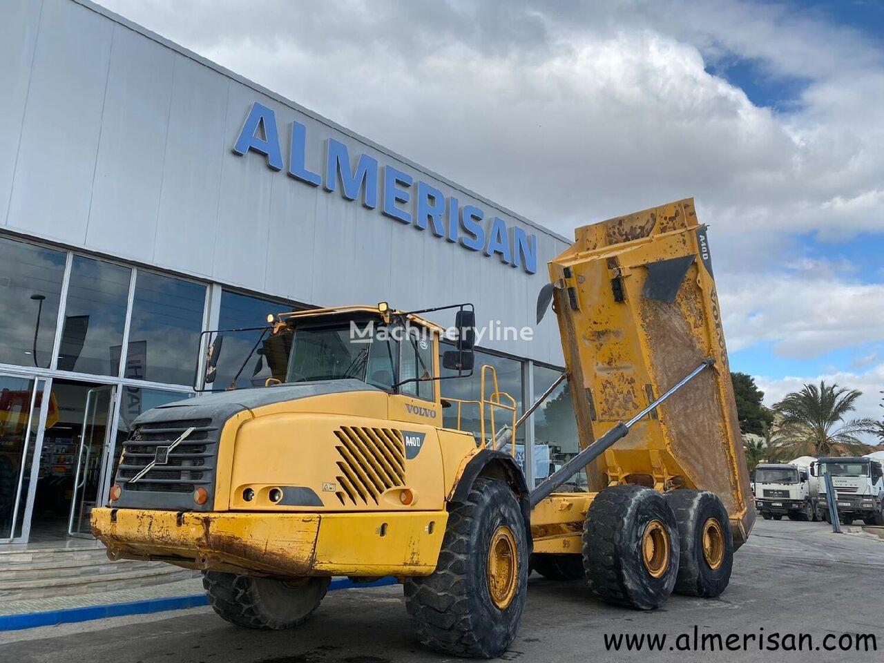 VOLVO A40D. DUMPER ARTICULADO EXTRAVIAL. COLOR AMARILLO articulated dump truck