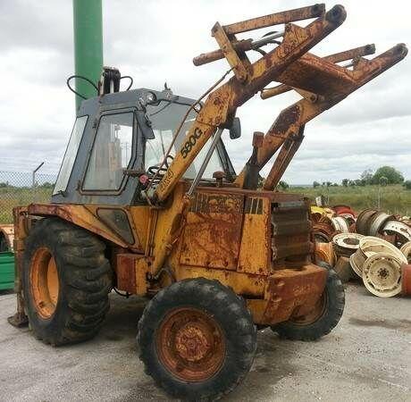 CASE 580G para peças backhoe loader