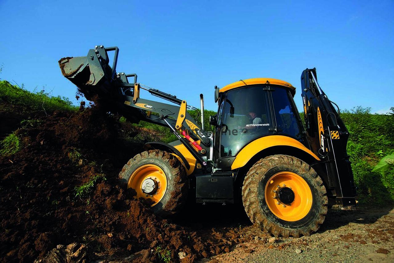 new MST M 644 backhoe loader