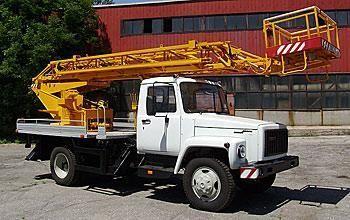 new GAZ bucket truck
