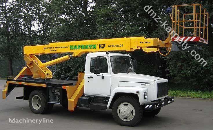 GAZ Avtogidropodemnik AGP-18.04 (Avtovyshka teleskopicheskaya) bucket truck