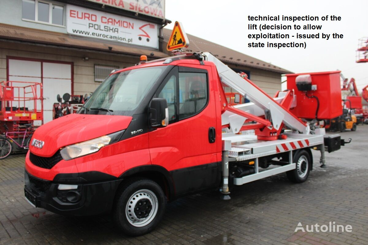 IVECO Daily 35-110  - 17 m Multitel MX170 (technical inspection) bucket truck