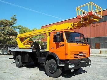 new KAMAZ bucket truck