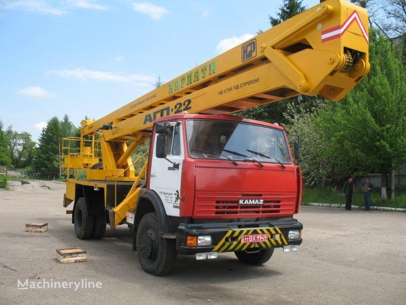 KAMAZ Avtogidropodemnik AGP-22 (Avtovyshka) bucket truck