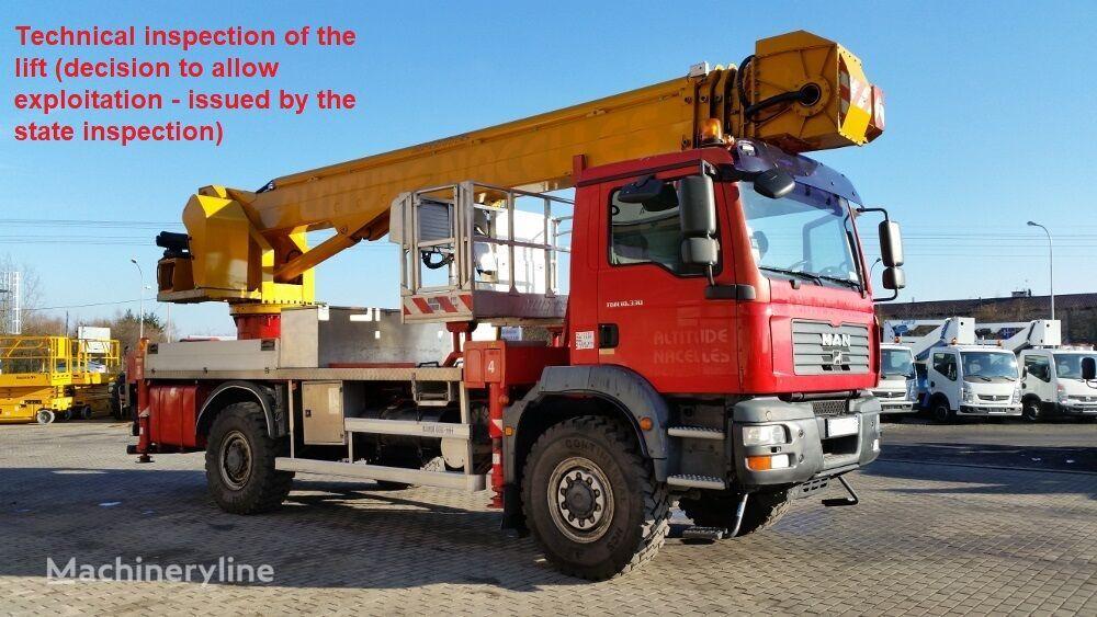 MAN TGM 18.330 4x4 Pagliero Multitel J335 ALU/EX - 35m (technical in bucket truck