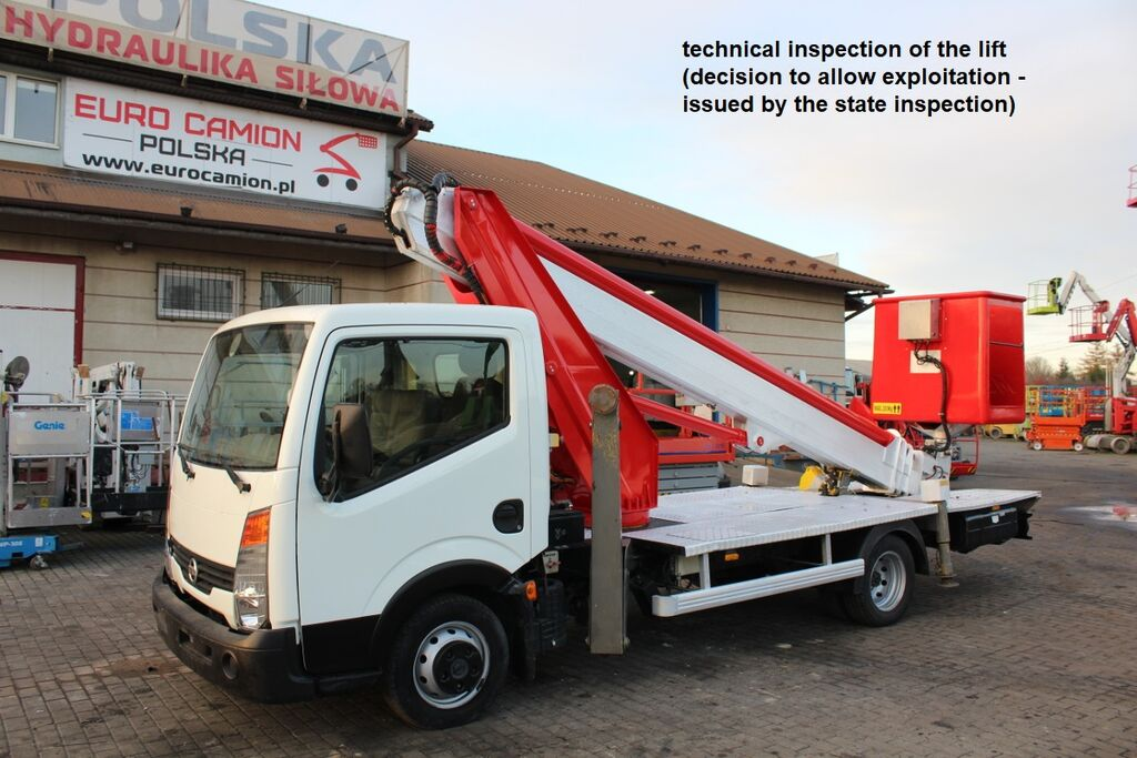 NISSAN Cabstar - 22 m Multitel MT222AZ (technical inspection) bucket truck
