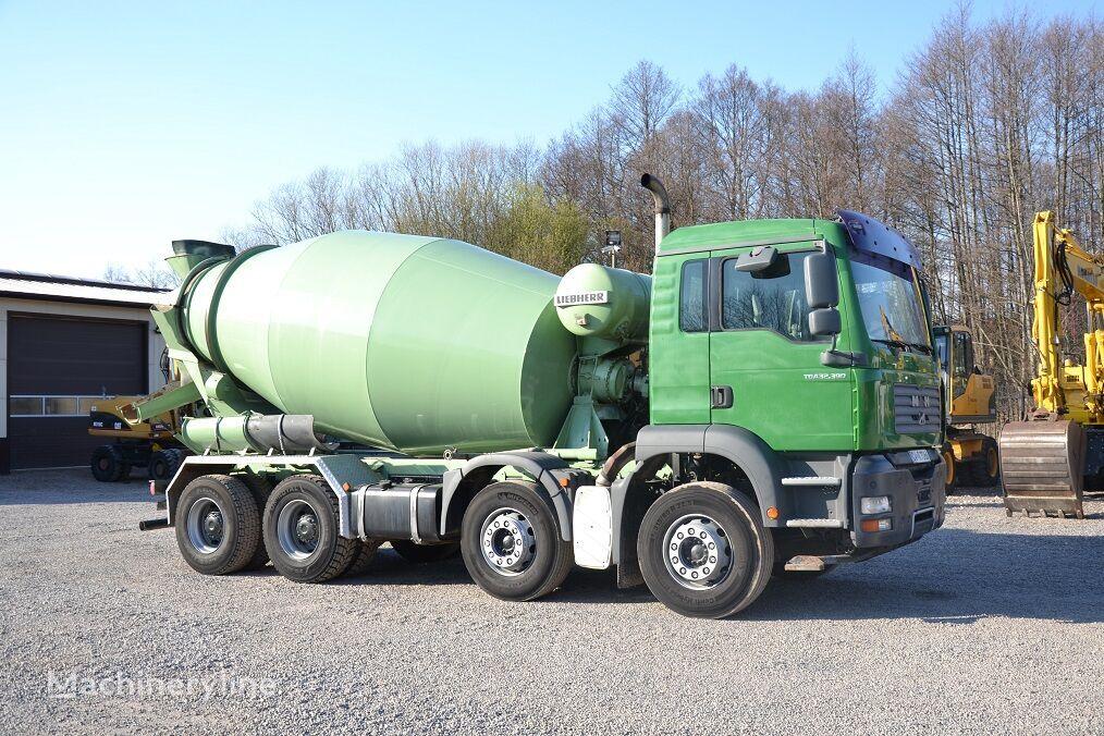 MAN TGA 32.390, 8X4 concrete mixer truck