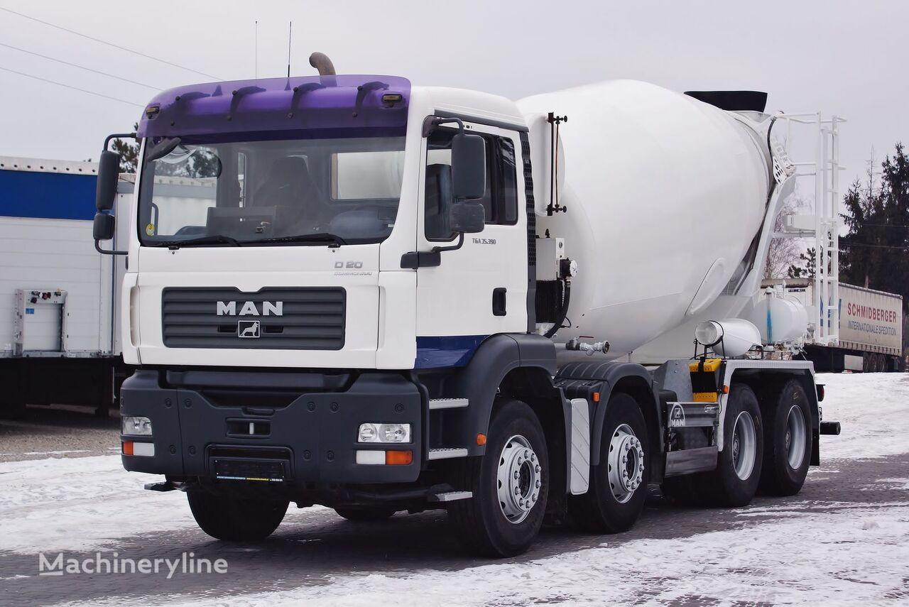MAN TGA 35.390 8X4 MANUAL STETTER 9M3 / GERMAN TRUCK !  Top_Zustand  concrete mixer truck