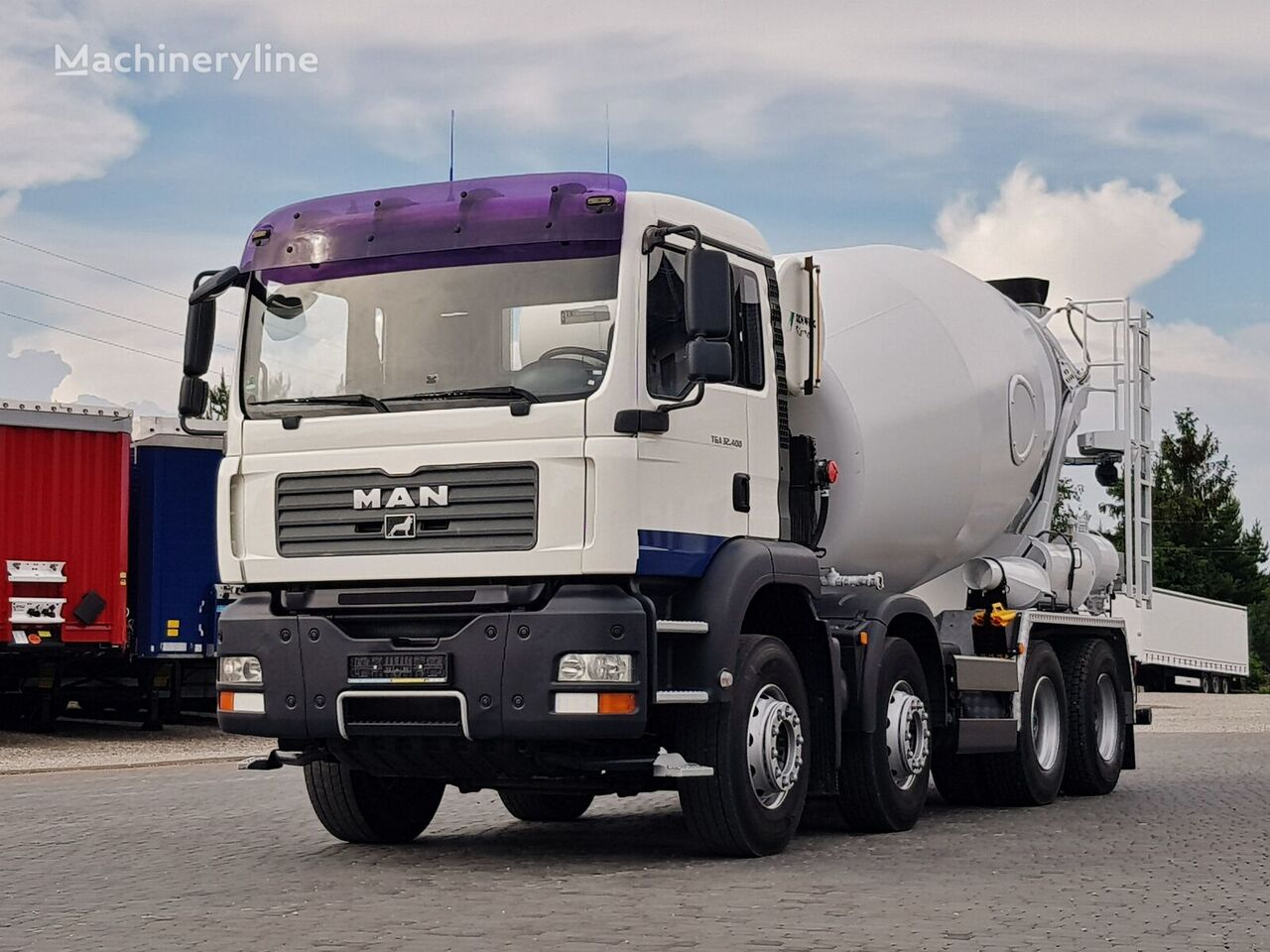 Stetter 9m3 on chassis MAN TGA 35.400 8X4 MANUAL STETTER 9m3 IMPORT German 2007 concrete mixer truck