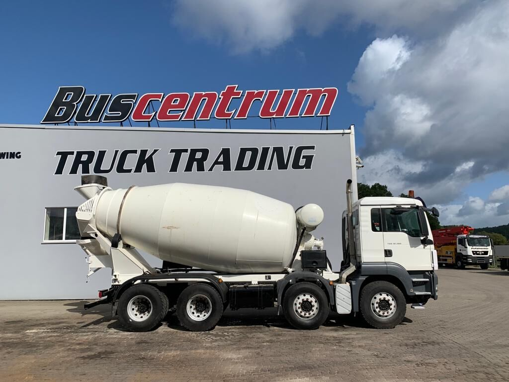 IMER Group  on chassis MAN TGS 32.360 8x4 IMER 9 cbm concrete mixer truck