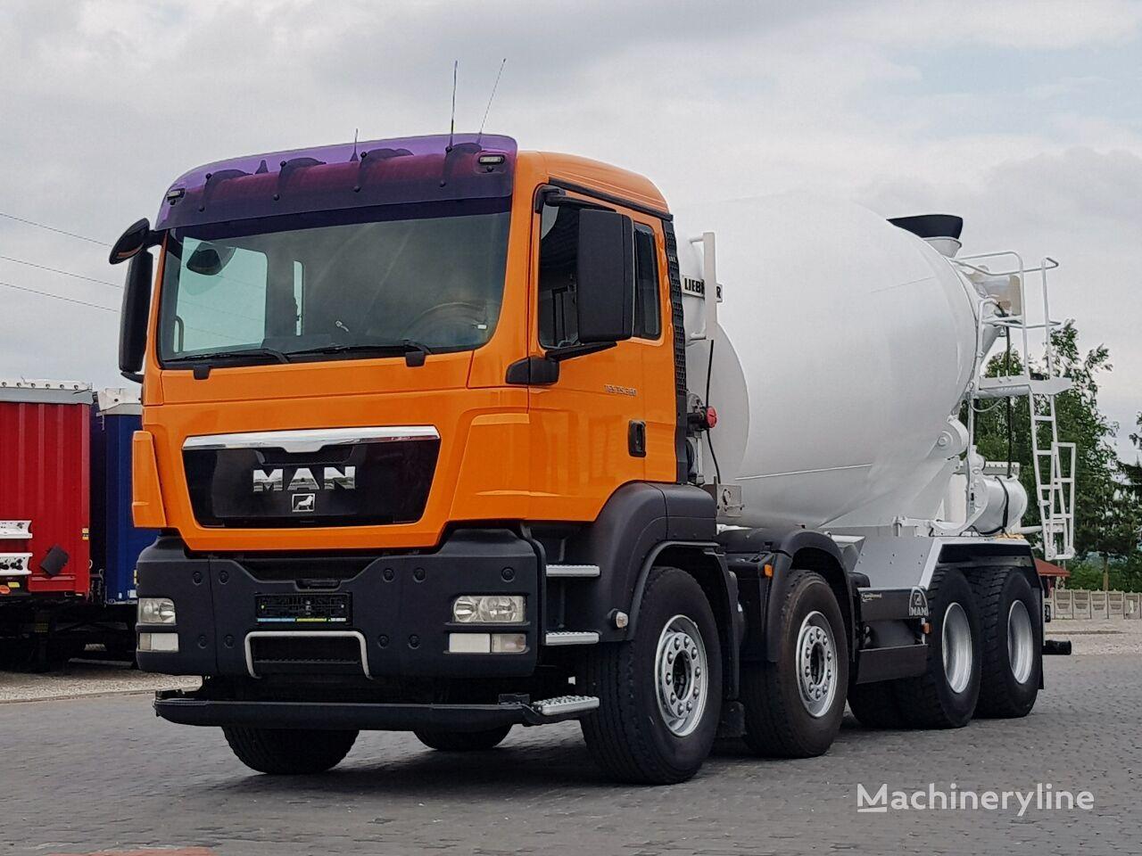 Liebherr  on chassis MAN TGS 35.360 8x4 BETONMIXER LIEBHERR 9m3 MANUAL * 2008 * concrete mixer truck