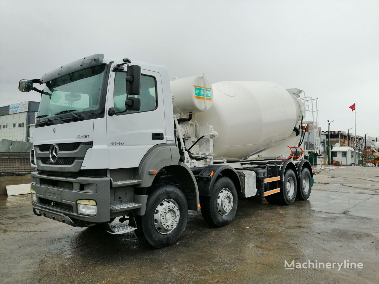 IMER Group 2015 on chassis MERCEDES-BENZ 41.40 Axor Transmikser concrete mixer truck