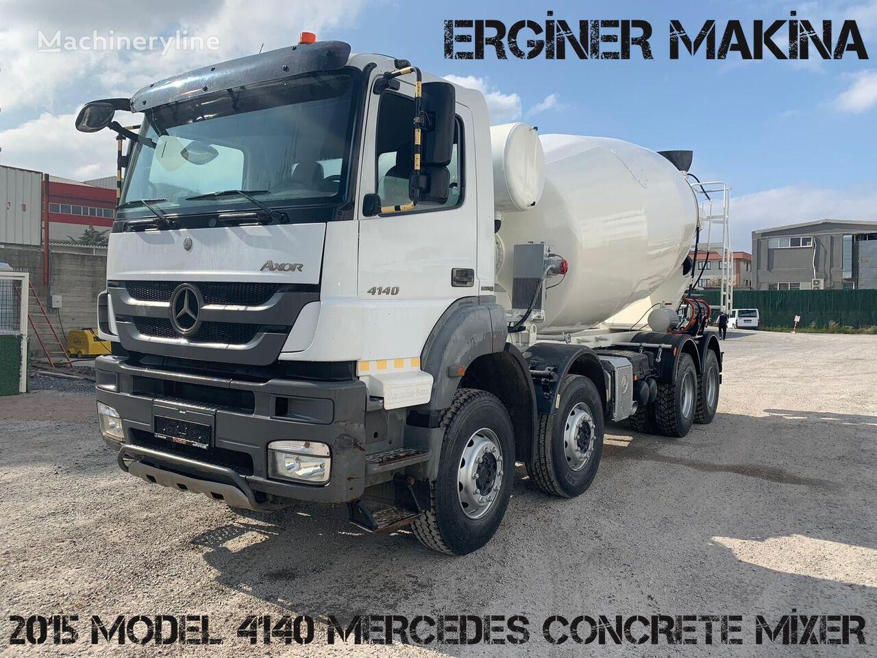 Stetter 2015 MODEL 4140 MERCEDES MİXER on chassis MERCEDES-BENZ 4140 MİXER READY  concrete mixer truck