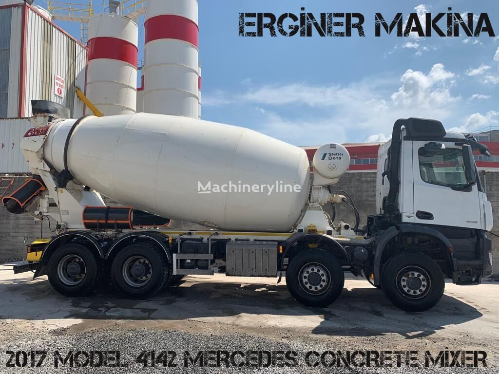 Stetter  on chassis MERCEDES-BENZ AROCS 4142 MERCEDES MİXER 5 PİECE READY  concrete mixer truck