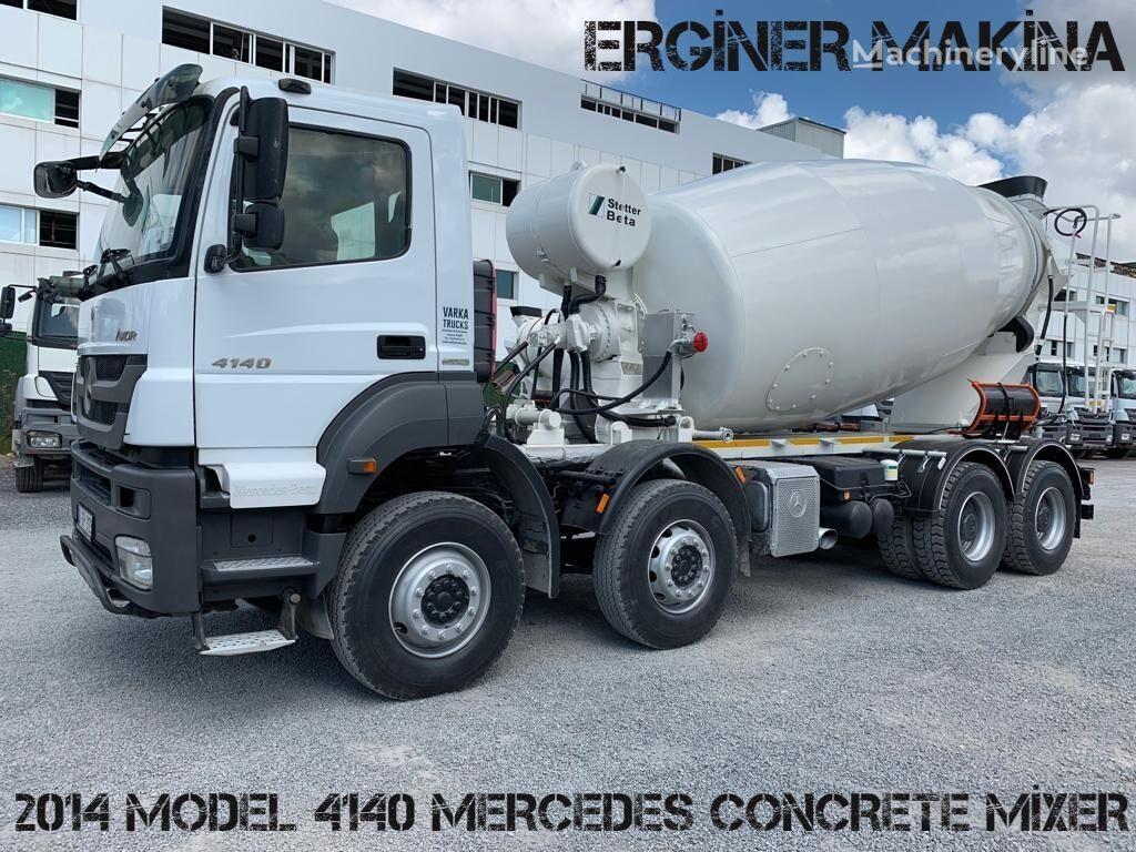 Stetter  on chassis MERCEDES-BENZ AXOR MODEL 7 PİECE 4140 MİXER concrete mixer truck