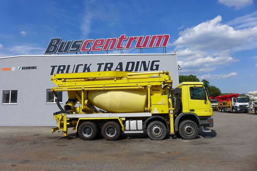 Stetter  on chassis MERCEDES-BENZ Actros 4141 8x4 Schwing 24 m concrete mixer truck