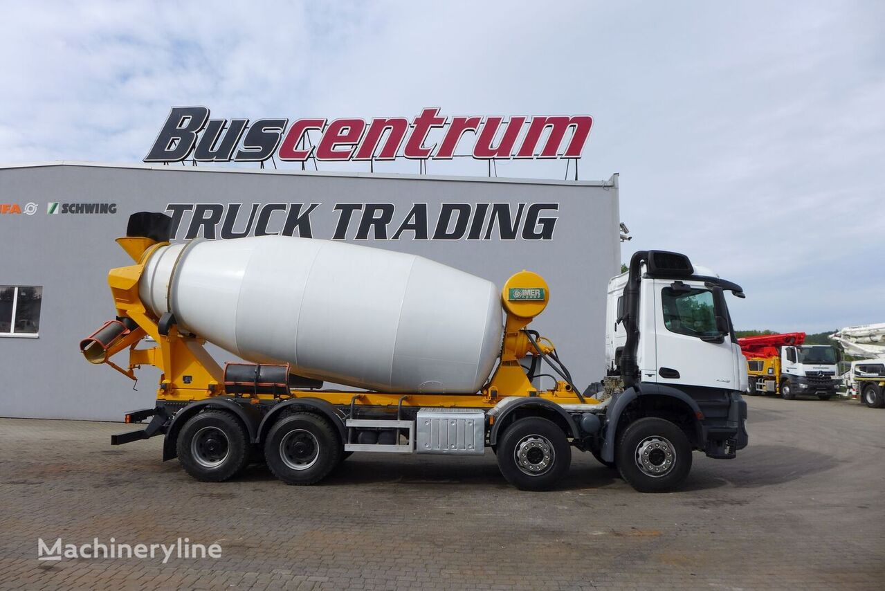 IMER Group  on chassis MERCEDES-BENZ Arocs 4142 8x4 IMER 12 m3 concrete mixer truck