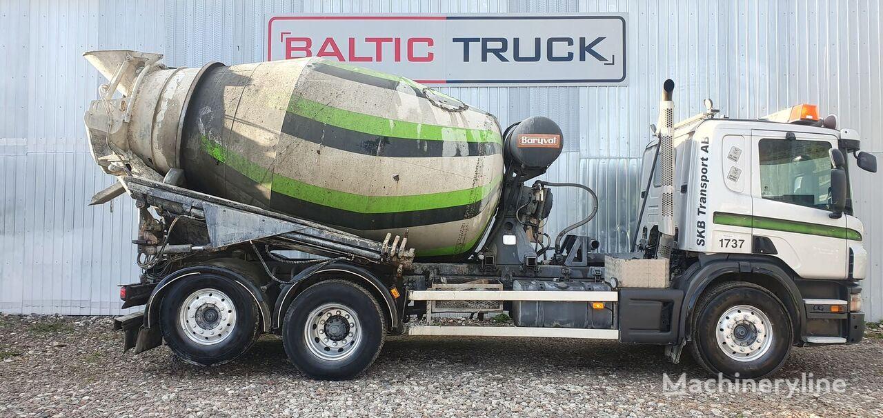 SCANIA P360 + 9m HYDRAULIC PIPE concrete mixer truck