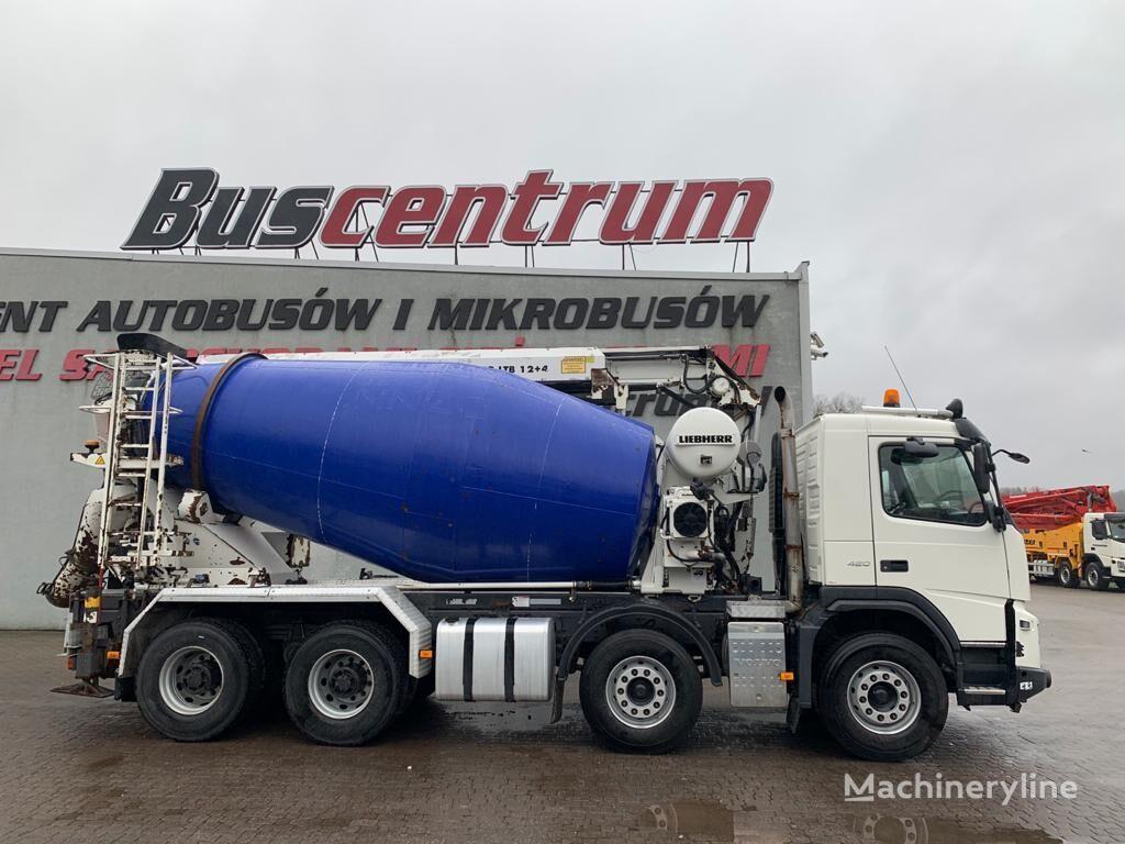 Liebherr  on chassis VOLVO FM X 420 8x4   concrete mixer truck