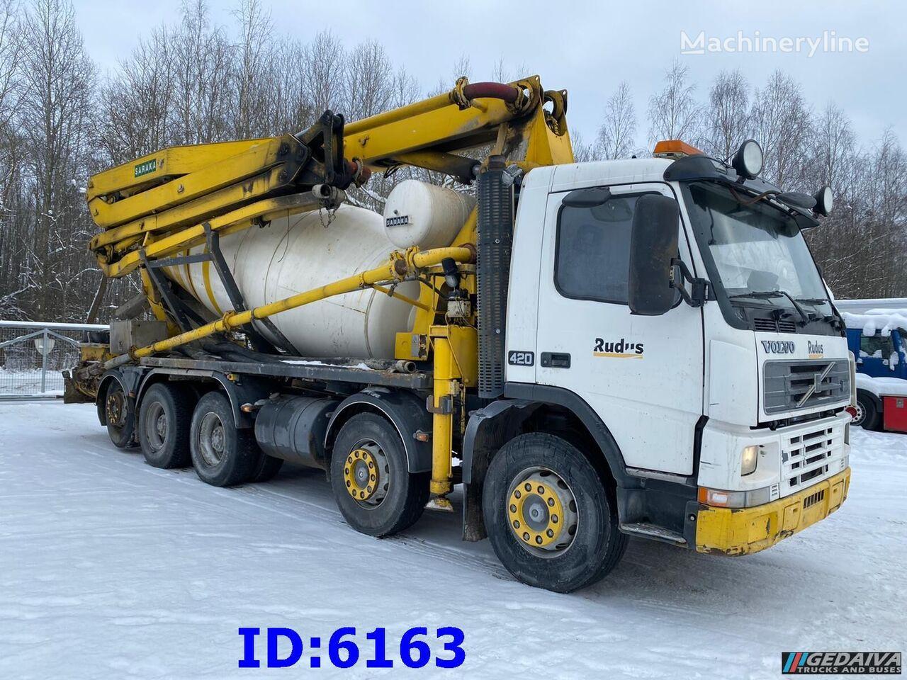 VOLVO FM12 420 10x4 9m3 Pump 26m concrete mixer truck