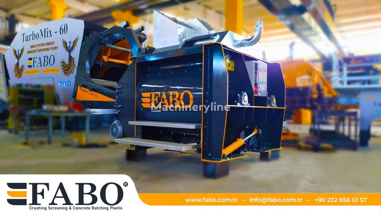 new FABO FABO 1 m3 TWIN SHAFT MIXER IS  READY concrete mixer