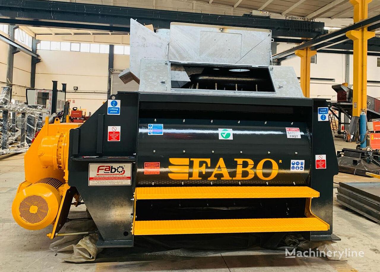 new FABO TWS 02 DVUHVALNYY BETONOSMESITELNYY MIKSER  concrete mixer