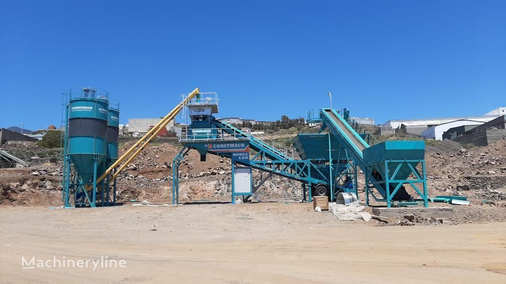 new CONSTMACH 100 m3/h MOBILE CONCRETE PLANT,  CALL NOW FOR MORE INFO! concrete plant