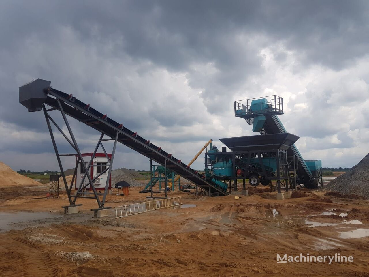 new CONSTMACH 2 YEARS WARRANTY, CE CERTIFIED CONCRETE PLANT, 30 m3/h CAPACITY concrete plant