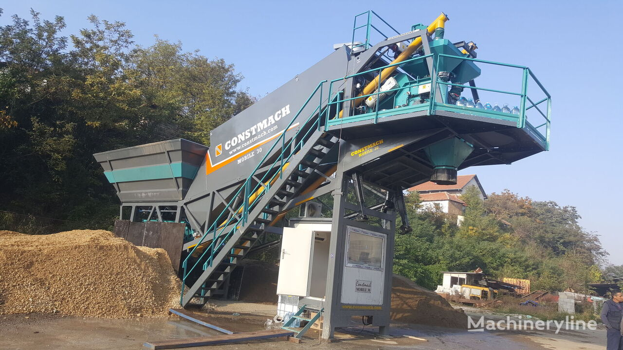 new CONSTMACH 30 m3/h FULLY MOBILE CONCRETE PLANT FROM CONSTMACH concrete plant