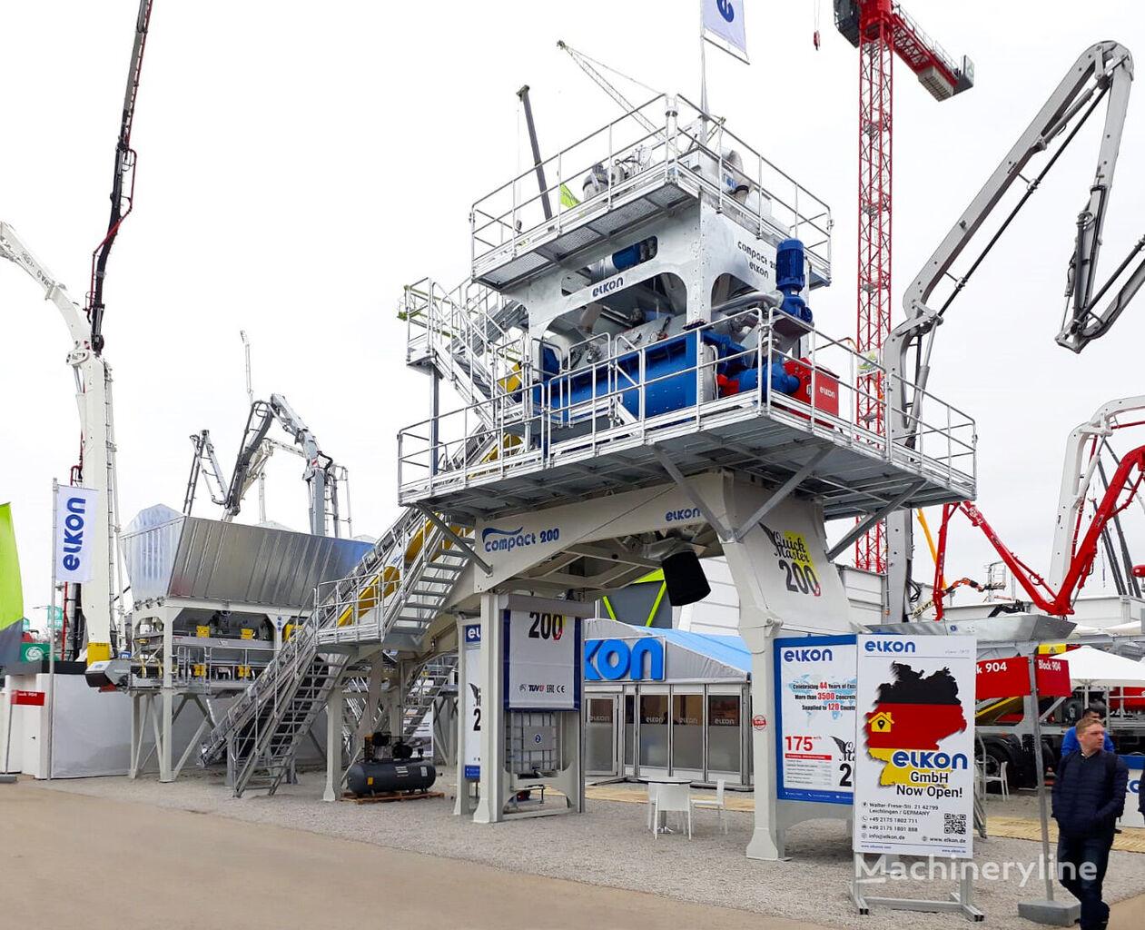new ELKON ELKOMIX-200 QUICK MASTER Compact Concrete Batching Plant concrete plant