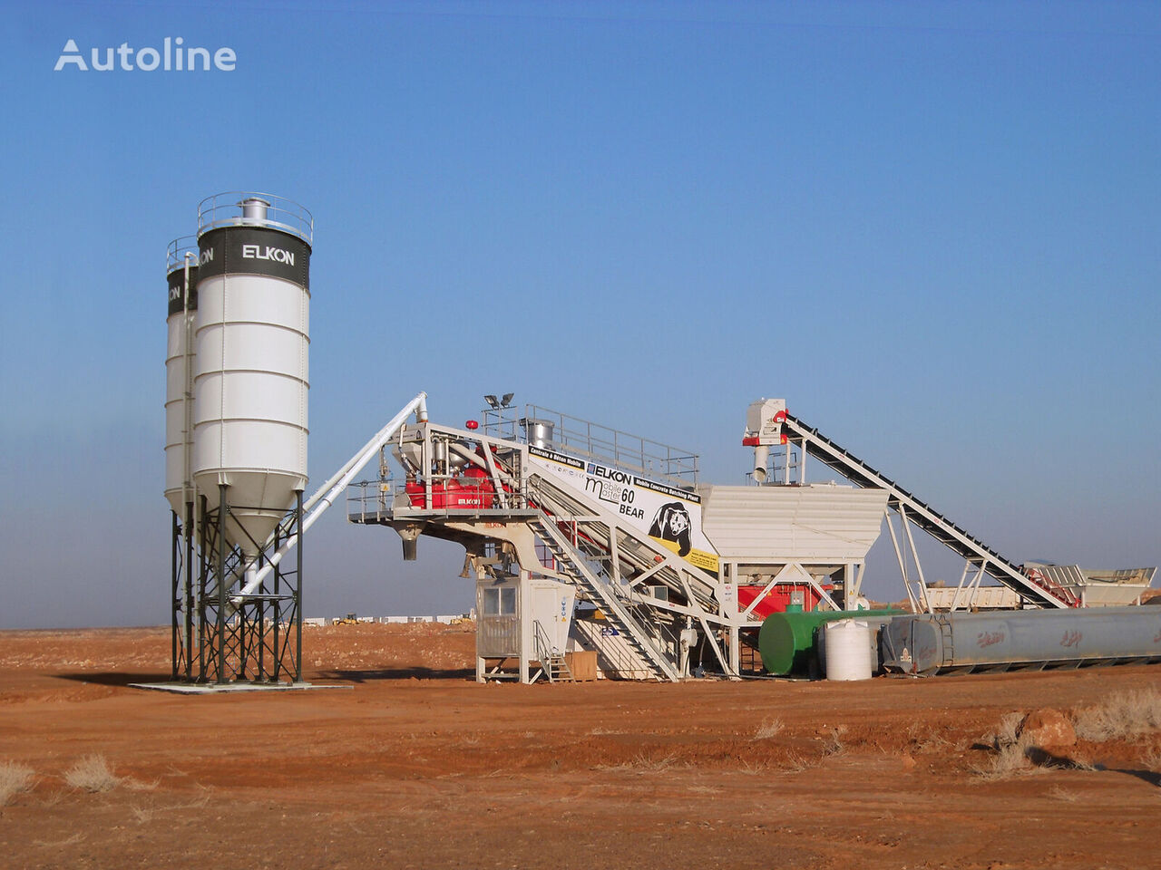 new ELKON  Mobile Master-60 Bear Mobile Concrete Batching Plant concrete plant