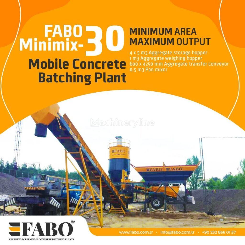 new FABO MINIMIX 30 M3/H MOBILE CONCRETE PLANT EASY TRANSPORT concrete plant