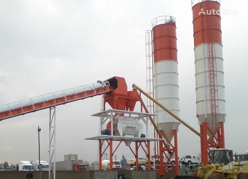new FABO POWERMIX-90 FIXED CONCRETE MIXING PLANT concrete plant