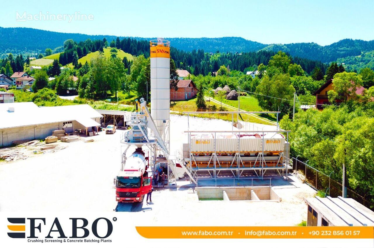 new FABO  SKIP SYSTEM CONCRETE BATCHING PLANT | 110m3/h Capacity concrete plant