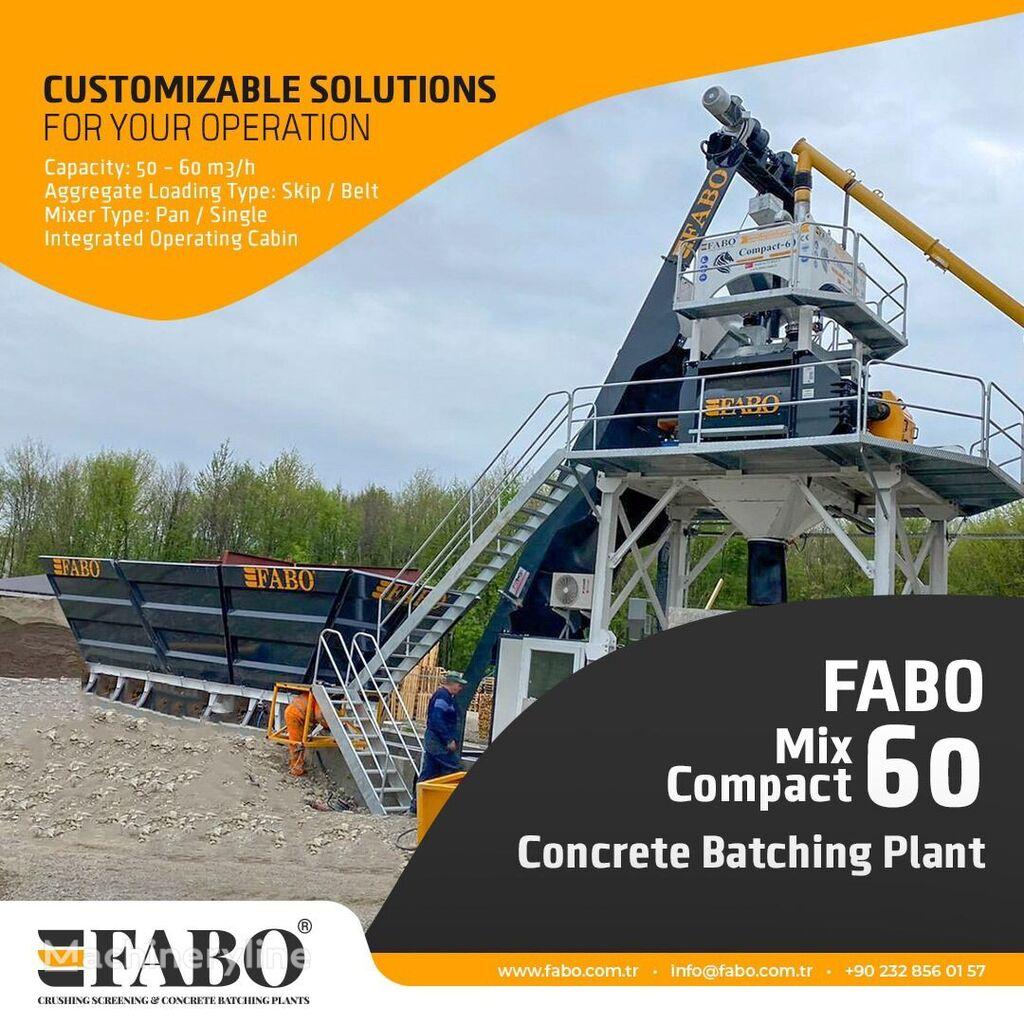 new FABO SKIP SYSTEM CONCRETE BATCHING PLANT   60m3/h Capacity concrete plant