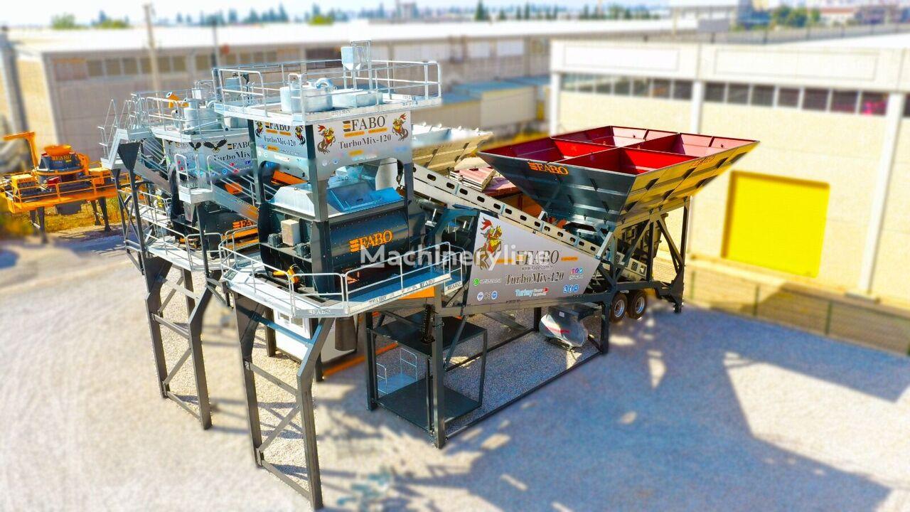 new FABO TURBOMIX - 120 CENTRALE A BETON MOBILE CERTIFICAT CE** concrete plant