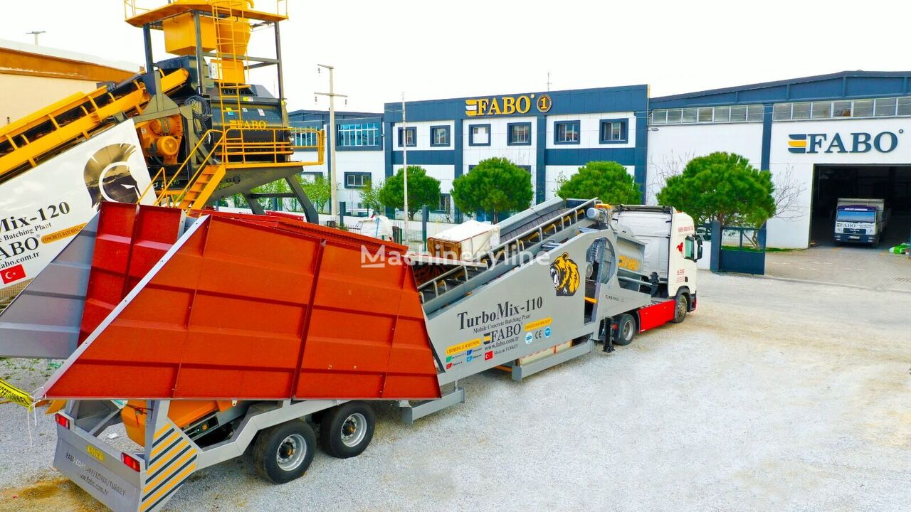 new FABO TURBOMİX 110 CE QUALITY NEW GENERATION MOBILE CONCRETE MIXING PL concrete plant