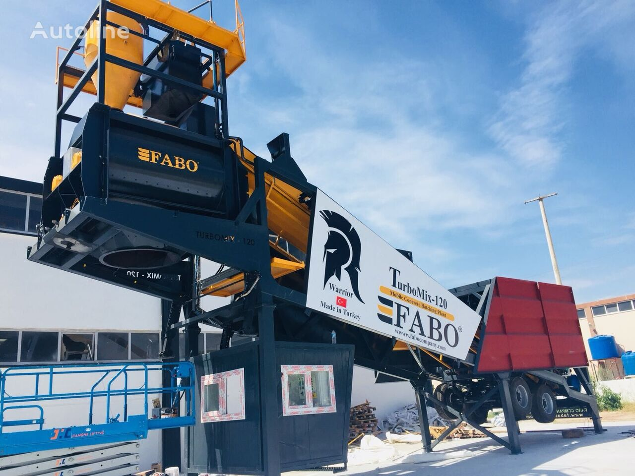 new FABO TURBOMİX 120 NEW DESIGN MOBILE CONCRETE BATCHING PLANT IN ALL CA concrete plant